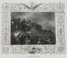 """Auguste Raffet (French, 1804–1860) Lithograph 'Defense de Paris"""" Napoleon"""