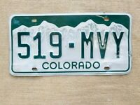 American number licence plate Colorado embossed vintage car old genuine USA .