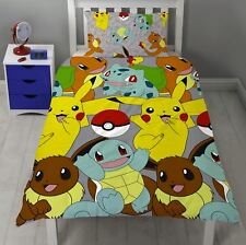 POKEMON CATCH SINGLE DUVET COVER PIKACHU SQUIRTLE CHARMANDER BEDDING