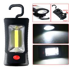NEW COB LED + 3 LEDs Working Flashlight Lamp Magnetic Hanging Camping Light