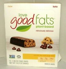 12 BARS Love Good Fats plant-based Snack Chocolate Chip Cookie Dough 10/09/2020