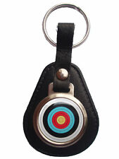 Archery Target Bonded Leather Keyring