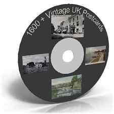 1600+ Vintage UK Postcards, Photo Card Art Craft CD, Historic picture collection