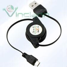 Cavo dati USB retrattile per SAMSUNG Galaxy S2 SII i9100 avvolgibile carica CRM