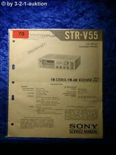 Sony Service Manual STR V 55 Receiver (#0070)