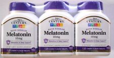 21st Century Melatonin Quick Dissolve Tablets, Cherry, 10 mg, 120ct -3 Pack