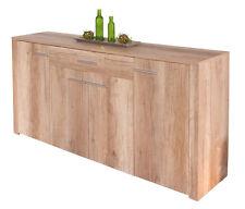 Commode buffet bahut meuble de rangement bureau cuisine séjour décor chêne
