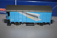 """Roco 66208 2-Achser Covered Goods Wagon Toys Track Builder """" SBB Blue Spur H0 Ob"""
