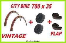 2 x Neumáticos 700 35 VINTAGE/CLASSIC Bici De Paseo + 2 HABITACIONES + 2 SOLAPA