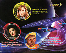 Gambia 2016 MNH Star Trek 50th The Next Generation 3v M/S Whoopi Goldberg Stamps