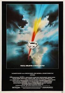 Superman The Film Klassisch 70's Vintage Filmplakat - Wand Film Kunstdruck