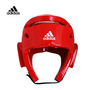 Adidas Official Olympic Games Taekwondo Sparring Headgear WTA WTF Boxing MMA Red