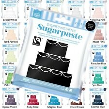 Squires Kitchen Sugarpaste varios colores listo para rodar Glaseado Fondant 250g