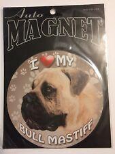 I Love My Bull Mastiff Dog Magnet Car Auto Sport Kitchen Fridge Locker Magnetic