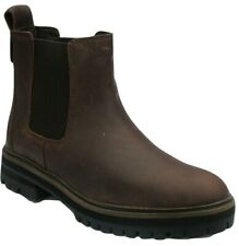 Womens Ladies Timberland Chelsea Boots Brown Leather Pull On Shoes Size UK 4