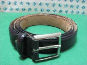 Vintage -  anni 90 Cintura Uomo vera pelle , Cm 120x3  fibia compresa - 3