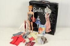Vintage Barbie Blonde Ponytail, #5 Case, Clothes & Booklet Zebra Swimsuit
