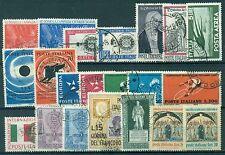 1962U ITALIA 1962 Annata completa USATA 21 valori, buone/ottime condizioni, USED
