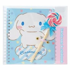Cinnamoroll candy-shaped pen and notebook set: Lollipop Sanrio NIB Japan