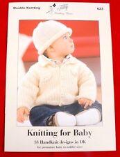 KNITTING FOR BABY PATTERN BOOK 18 HANDKNIT DESIGNS IN DK PREM TO TODDLER  (623)