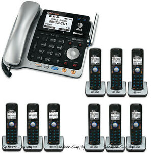 AT&T TL86109 2 Line Connect Cell Bluetooth Corded 9 Cordless Combo Phone System
