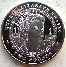 South Georgia 2007 Elizabeth II 2 Pounds Silver Coin,Proof