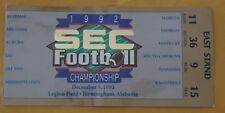 1992 FLORIDA VS ALABAMA 1ST SEC CHAMPIONSHIP GAME FOOTBALL TICKET STUB