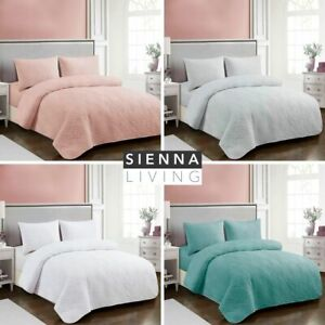 NEW Embossed Coverlet Bed Cover Bedspread | Single Double Queen King Sizes