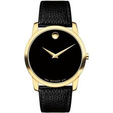 Movado Men's 0607014 Museum Black Leather Watch