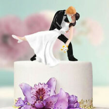 Bride and Groom Couple Figurine Wedding Celebration Decoration Cake Topper B