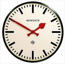 EXTRA LARGE Newgate Red Black Shabby Chic Retro Kitchen Vintage New Wall Clock