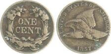 USA 1 Cent Flying Eagle 1857 s- ss