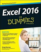 Excel 2016 For Dummies by Harvey, Greg Book The Fast Free Shipping