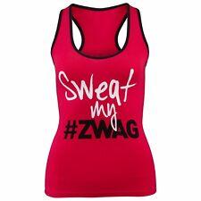 NWT Zumba kids Sweat My Swag Solid Racerback Cotton Spandex Zumba Women Top XS