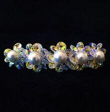BARRETTE using Swarovski Crystal Hair Clip Hairpin Bridal Wedding Multi Color 04