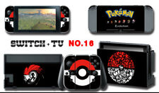 Vinyl Decal Skin Sticker Protector for Nintendo Switch Pokemon BLACK GTC