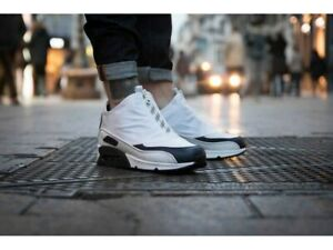 Scarpa Sneakers Uomo NIKE AIR MAX 90 UTILITY Bianco Lacci e Cerniera Mis EU 41
