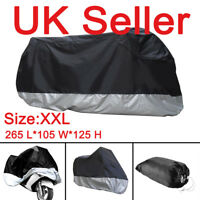 XXL Waterproof Motorcycle Motorbike Rain Sun UV Cover Breathable + storage bag