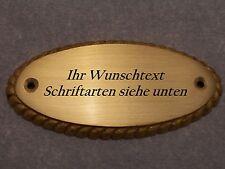 Namensschild, Türschild Messing 9,9 cm x  3,9 cm mit Wunschgravur