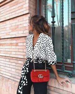 Zara Polka Dot Print Top Size X SMALL SMALL & MEDIUM BNWT