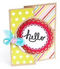 Sizzix Framelits Circle #4 Flip-its Card set #660022 Retail $29.99 21-pk!!!