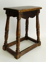 Antique English Oak Joint Joined Pegged Stool