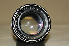 MINOLTA MC ROKKOR-PF 55mm 1:1.7 MF LENS MD MOUNT FOR PARTS OR REPAIR 7140