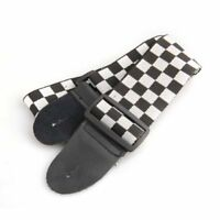 Bag Strap Black White Checkered For Electric Acoustic Guitar Musical Instrument