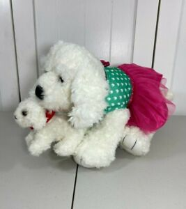 💜 Build a Bear Maltese Poodle Maltipoo White Dog w/ NEW Dress & Mini Puppy 💜