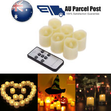 Remote Control LED Flickering Flame Battery Candle Tea Lights w/ Timer Ivory AU