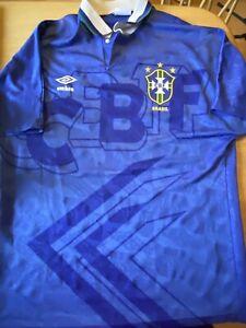 Very Rare Vintage Brazil Football Shirt 1991-1994 Away Umbro Good Condition