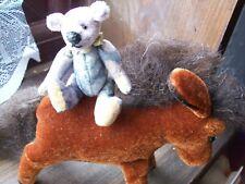 OOAK miniature artists bear & horse pal.