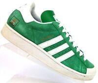 Adidas Half Shells Skateboarding Vulc Skate Shoes Trainers Green White Men's 8.5
