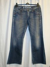 Women's G-STAR RAW DENIM 3301 LMT LOOSE cotton blue jeans size 30/34 great cond